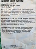 Paprika Wave Chips - Ingredienti - fr