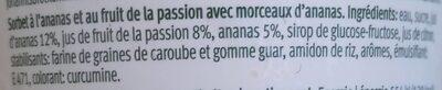 Sorbet ananas fruit de la passion - Ingrédients - fr