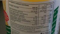 Orange - Informazioni nutrizionali - fr