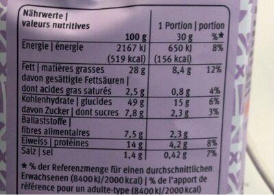 Quinoa Snack provençal seasoning & almonds - Voedingswaarden - fr
