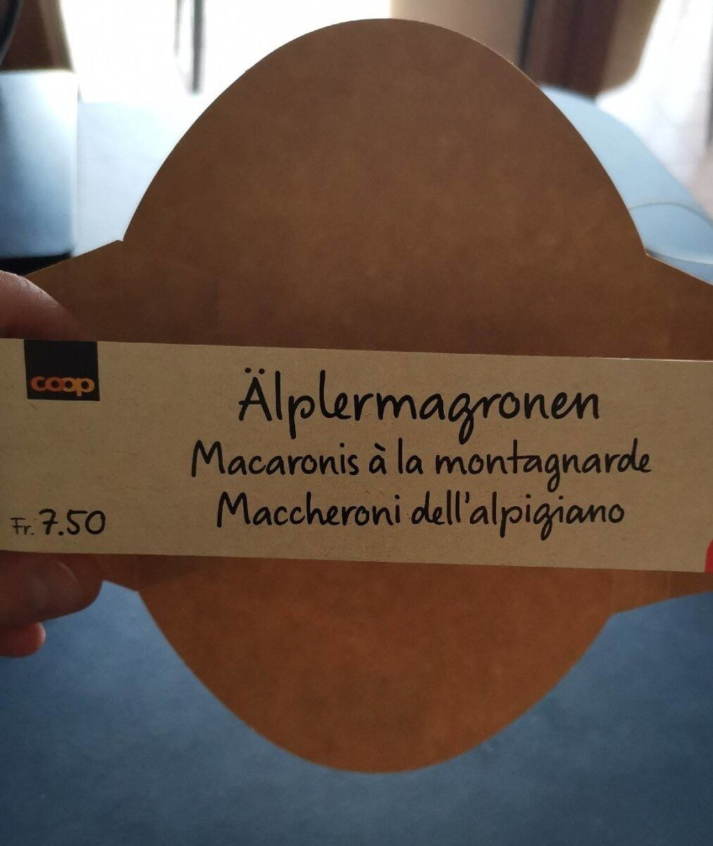 Macaronis montagnards | Älplermagronen - Nutrition facts - fr