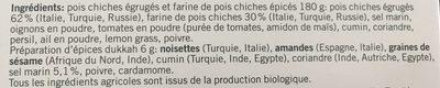 Bio falafel - Ingrédients - fr