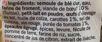 Tortellini à la viande de boeuf - Ingredienti - fr