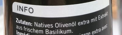 Azeite de Oliva con basilico - Ingredienti - fr