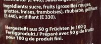 Confiture - Ingredienti - fr