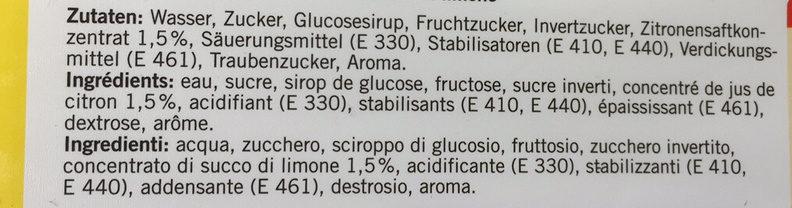 Citron sorbet - Ingredienti - fr