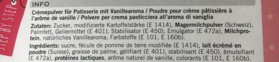 Crème pâtissière - Ingrediënten - fr