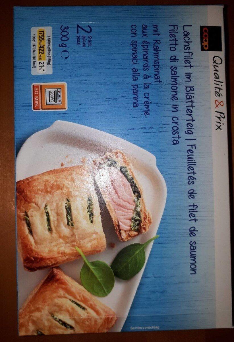 Feuilletés de filet de saumon - Produit - fr
