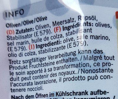 Olives noires denoyautes espagnoles - Ingrédients - fr