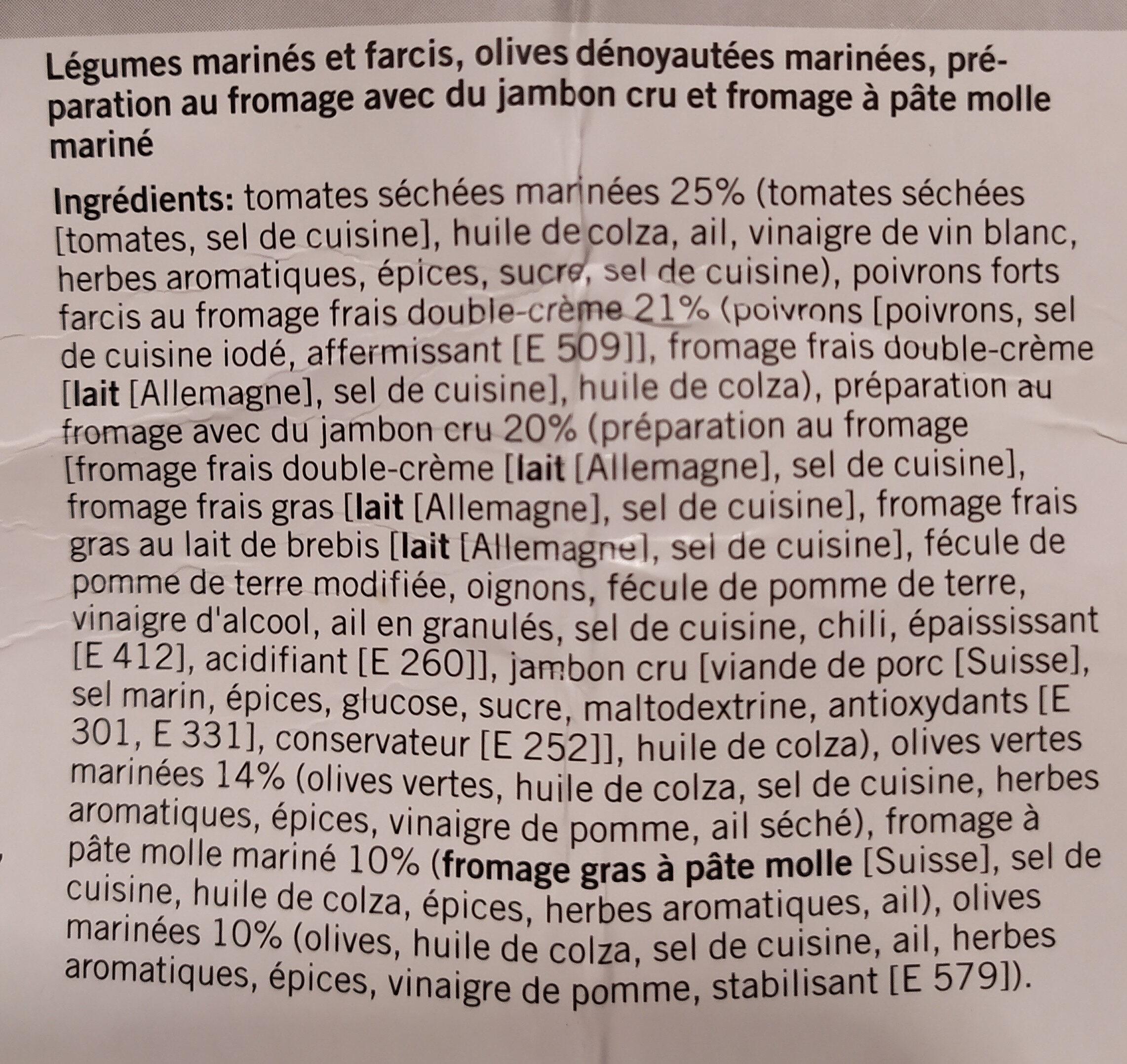 selezione di antipasti - Ingrediënten - fr
