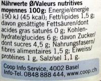 Sugo All' Arrabbiata - Nutrition facts - fr