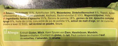 Crackers pomme épeautre - Ingredients