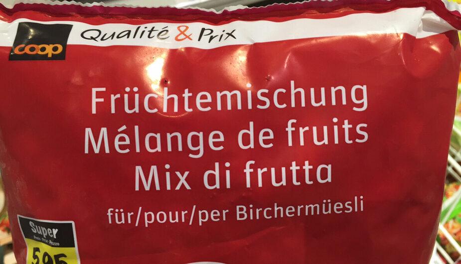 Mélange de fruits pour Birchermüesli - Prodotto - fr