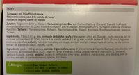 Cornettes à la viande hachée - Ingrediënten - fr