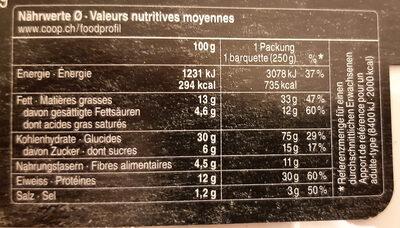 Fiori al salmone - Nutrition facts - fr