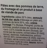 Älpler magronen - Ingredienti - fr
