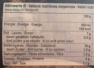 Älpler magronen - Valori nutrizionali - fr