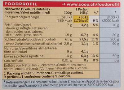 Porridge nature - Voedingswaarden - fr