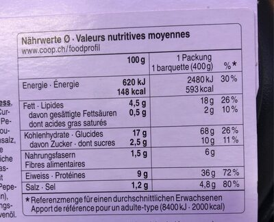 Mah Mee - Nutrition facts - fr