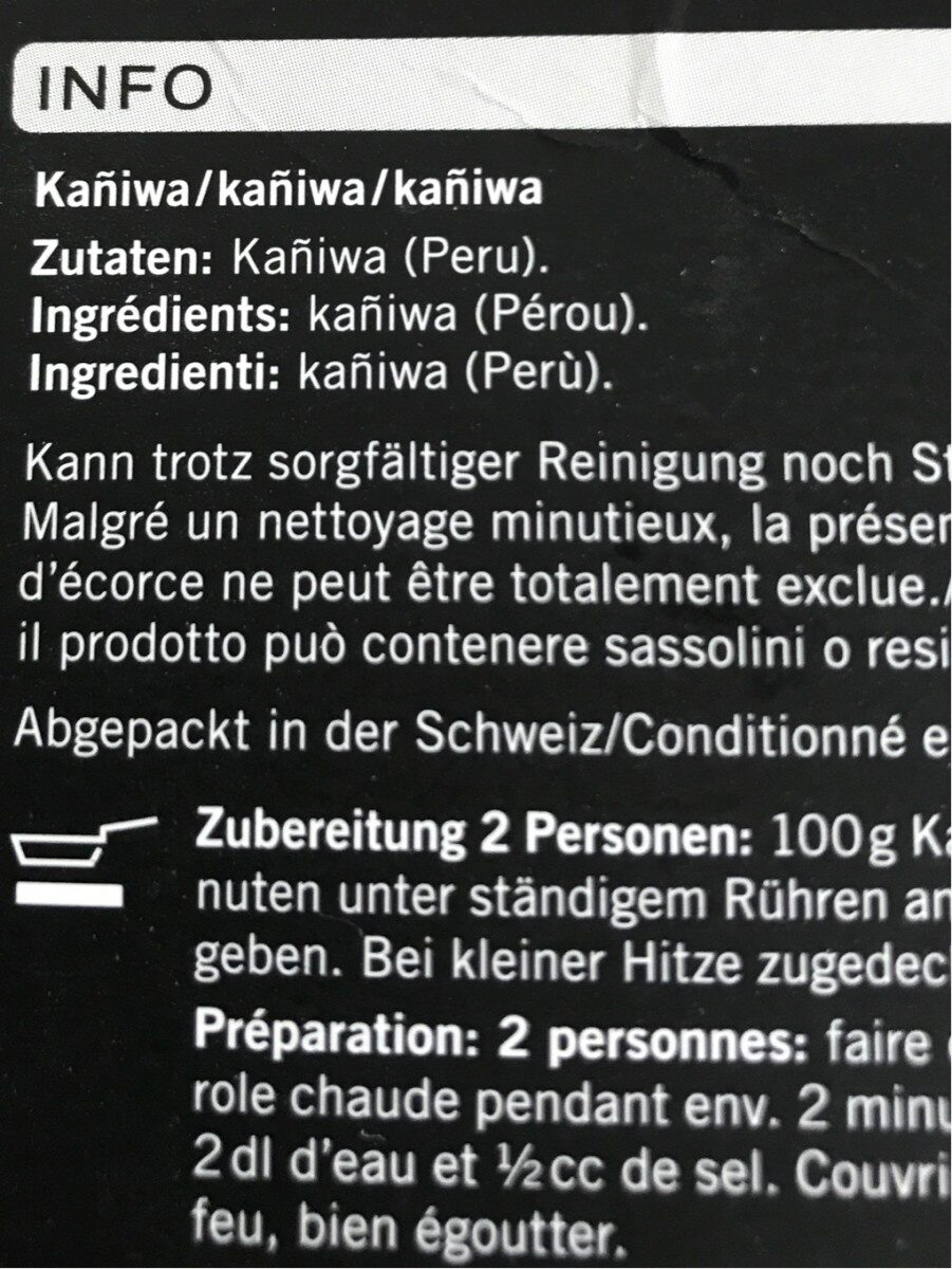 Baby Quinoa - Ingredienti - fr