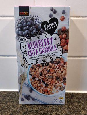 Blueberry chia Granola - Produit - fr
