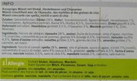 Blueberry chia Granola - Ingredients - fr