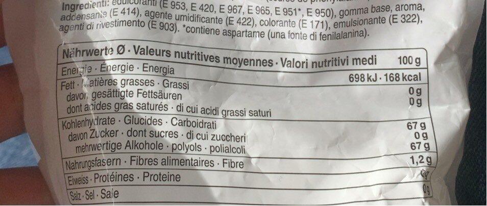 Chewing Gum Spearmint - Informations nutritionnelles - fr