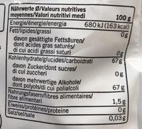 Gomme à mâcher à la menthe sans sucre - Voedingswaarden - fr