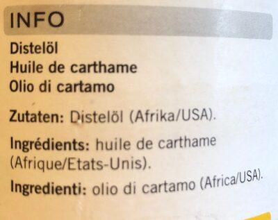 Huile de carthame - Ingrédients - fr