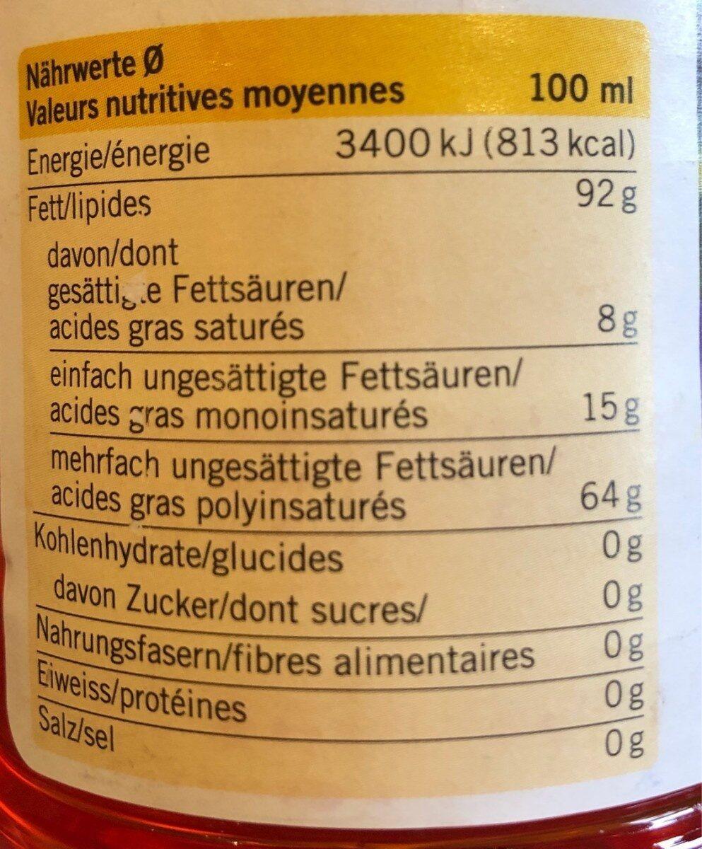 Huile de carthame - Informations nutritionnelles - fr