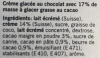 Glace à la creme chocolat - Ingredients - fr