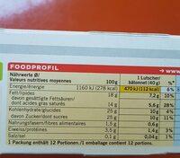 Rahmglace chocolat - Informazioni nutrizionali - en