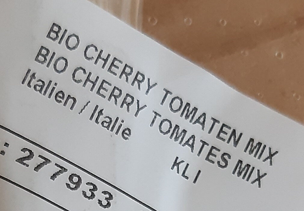 Bio Cherry Tomates Mix - Ingrédients - fr