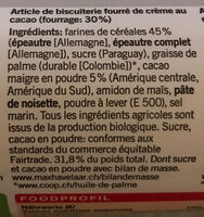Biscuits à l'épeautre fourrés - Ingrédients - fr