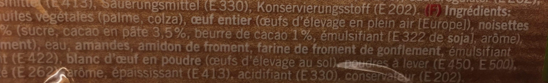 Cake Tyrolien - Ingredienti - fr