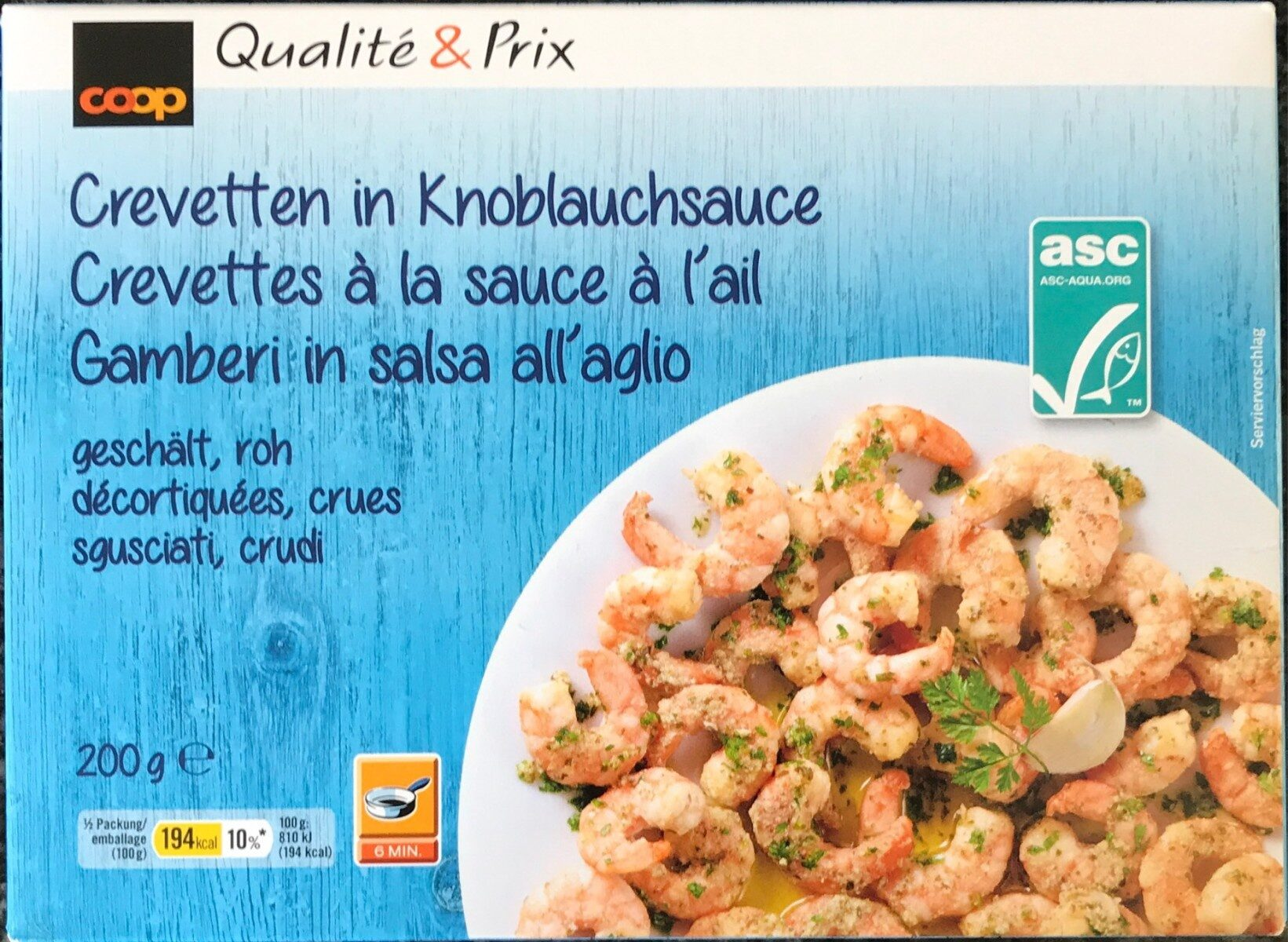 Crevettes à la sauce à l'ail - Product - fr