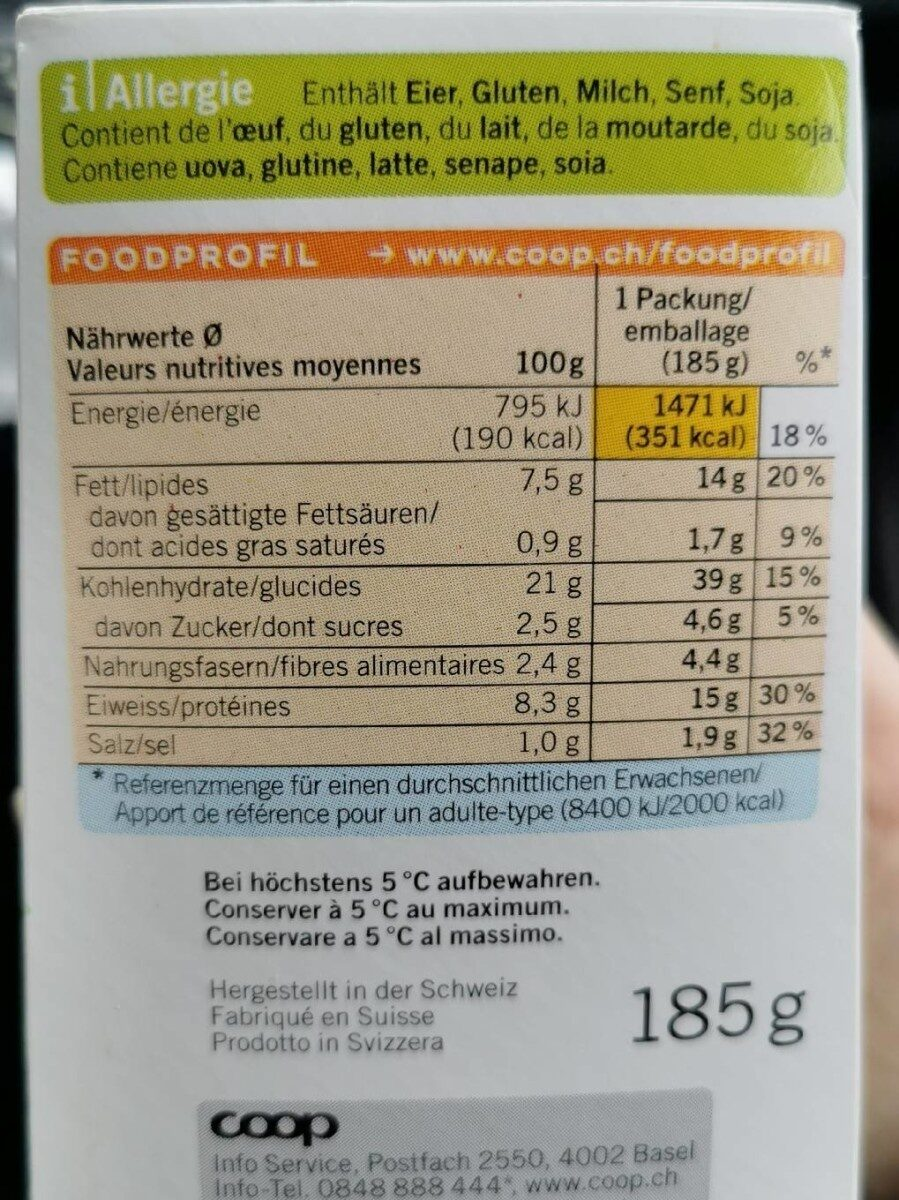 Chicken Avocado Sandwich - Informations nutritionnelles - fr
