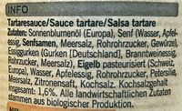 Sauce tartare - Ingredients