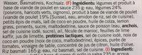 Betty Bossi - Red Thai Chicken Curry - Ingredients - fr