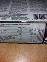 Civet de cerf - Informations nutritionnelles - fr