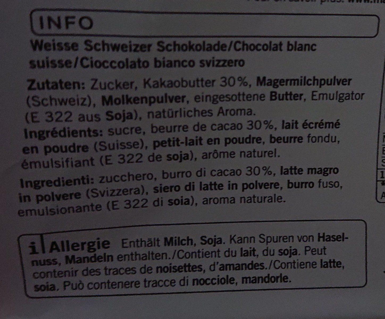 Chocolat blanc - Ingrediënten - fr