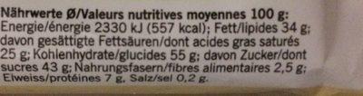 Gaufrettes enrobées de chocolat au lait - Nutrition facts - fr