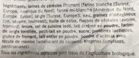 Pain tessinois foncé bio - Ingrediënten - fr