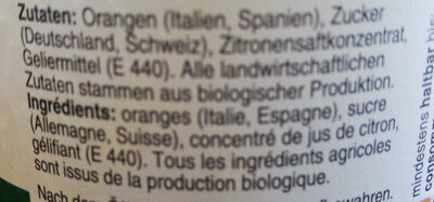 Confiture Oranges Douces Bio - Ingrediënten - fr