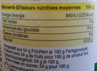Confiture Oranges Douces Bio - Voedigswaarden