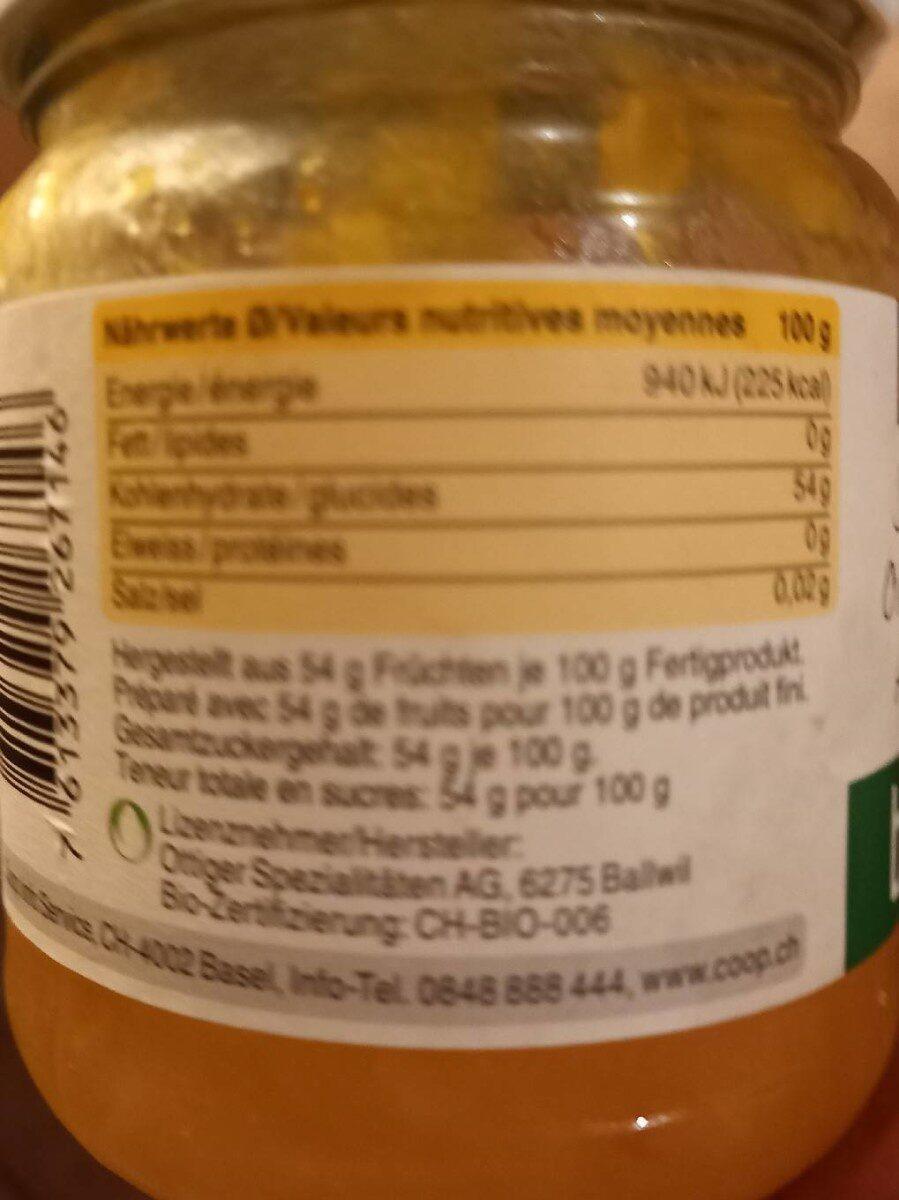 Confiture Oranges Douces Bio - Informations nutritionnelles - fr