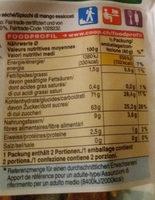 Mangue séchée - Ingrediënten - fr
