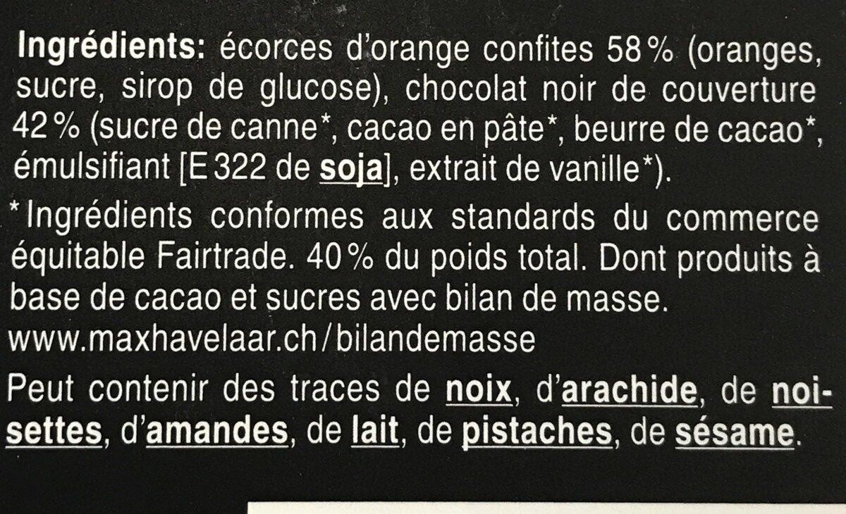Orangettes - Ingredienti - fr
