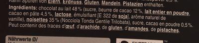 tartuffi nocciolati al latte - Ingrediënten