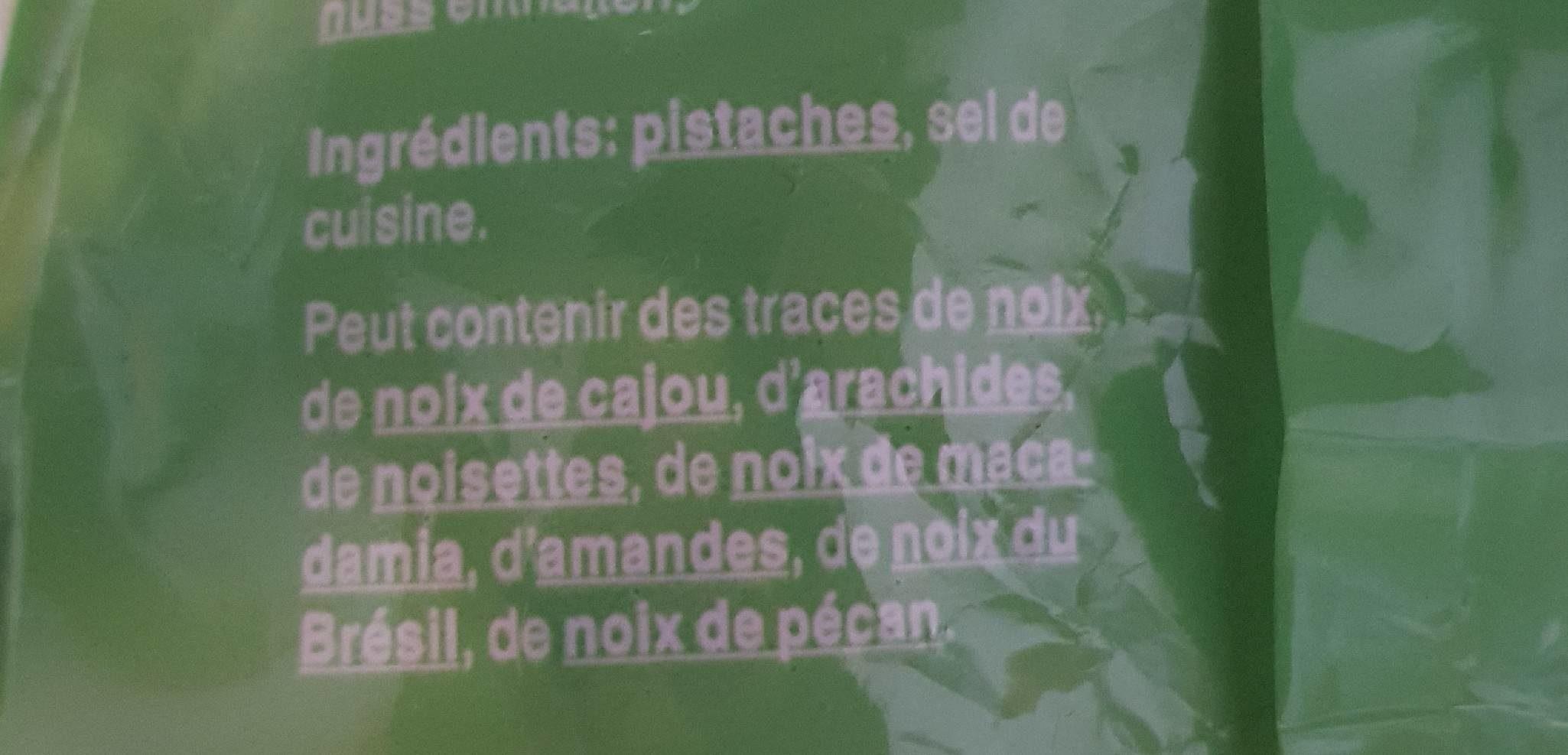 Pistaches salées - Ingrédients - fr